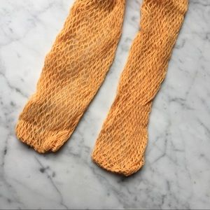 Vintage 60s Over the Knee Fishnet Stocking Socks